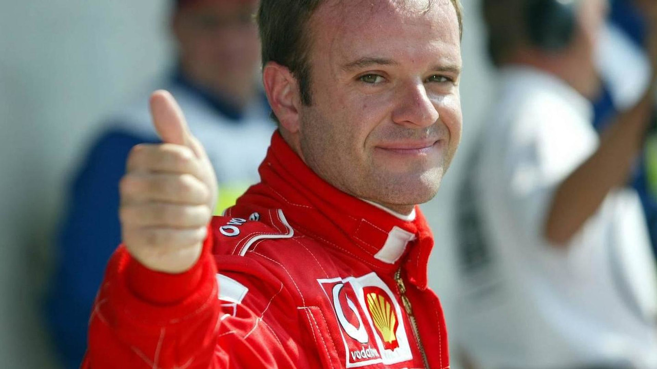 Rubens Barrichello (Ferrari) in Park Ferme, 2002 SAP United States Grand Prix, 28.09.2002 Indianapolis, USA, F1 in Indianapolis, Samstag, Qualifying