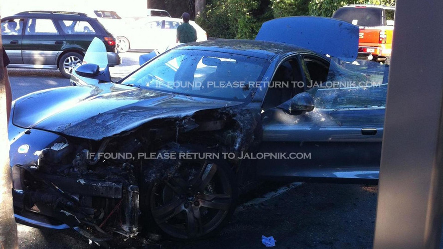 Fisker Karma burns in Woodside, California