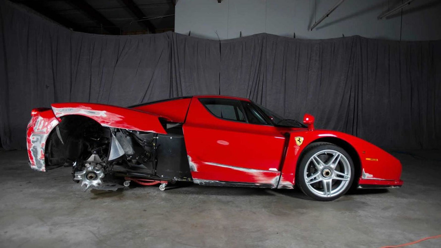 Damaged 2003 Ferrari Enzo being auctioned online, currently at $376,000 (150 pics)