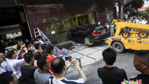 BMW 535i GT accident in China 03.07.2013