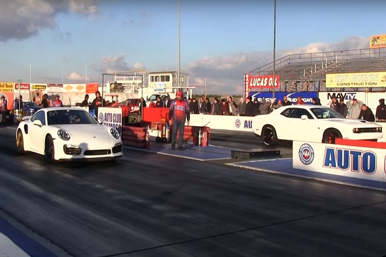 This Porsche 911 Turbo S Throttled a Challenger Hellcat on the Drag Strip