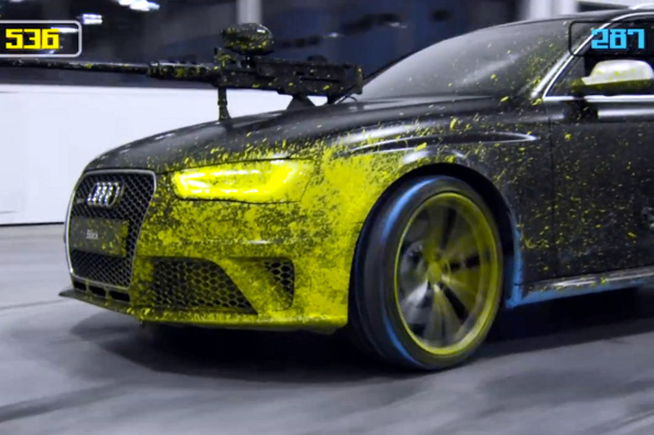 RS 4 Avant Paintball is Audi's Idea of a Good Time