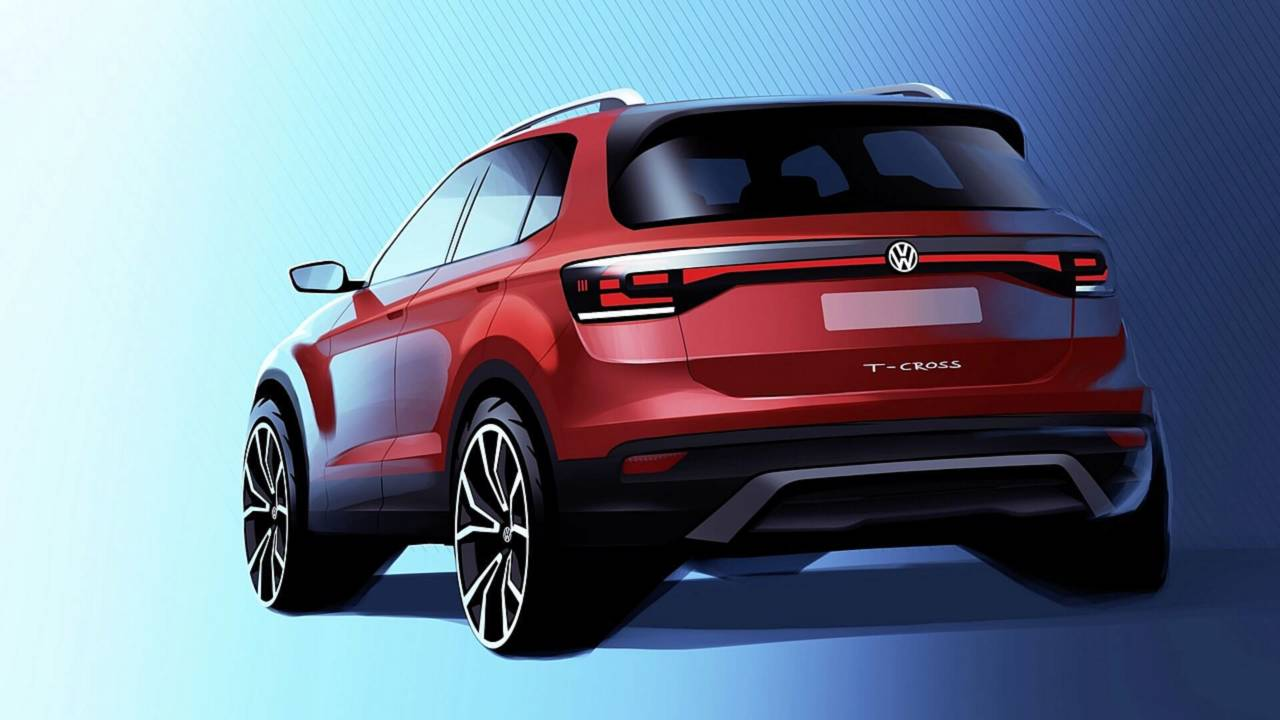 2019 vw t cross teased for the first time. Black Bedroom Furniture Sets. Home Design Ideas