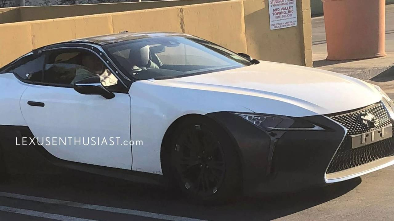 Possible Lexus LC F prototype spy photo