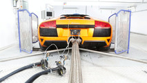 Lamborghini Murcielago exhaust gas and climate test bed