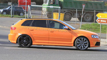 Audi RS3 prototype mule spy photo, Nurburg, Germany 28.04.2010