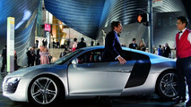 Audi R8 with Robert Downey Jr. in Iron Man Movie