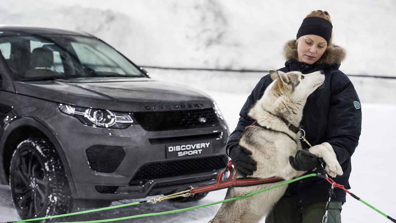 2017 Land Rover Sport Takes On Dog Sled Team