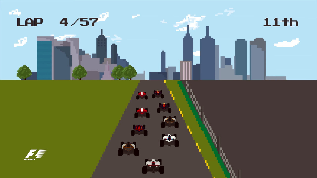 2016 Formula 1 season 8-bit video game