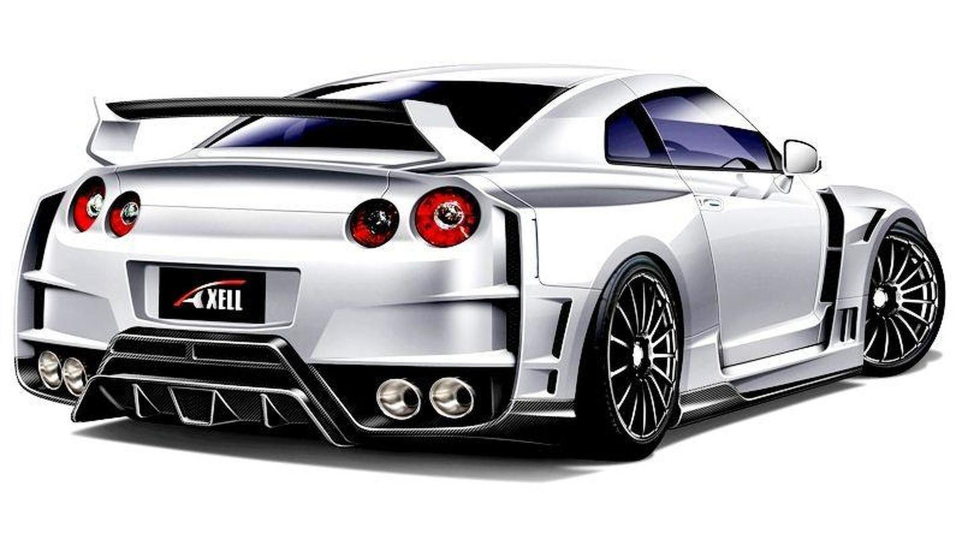Axell Auto Previews Widebody Kit For Nissan Gt R