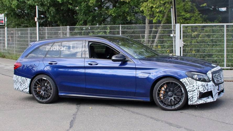 Photos espion - La future Mercedes-AMG C 63 Break s'affûte
