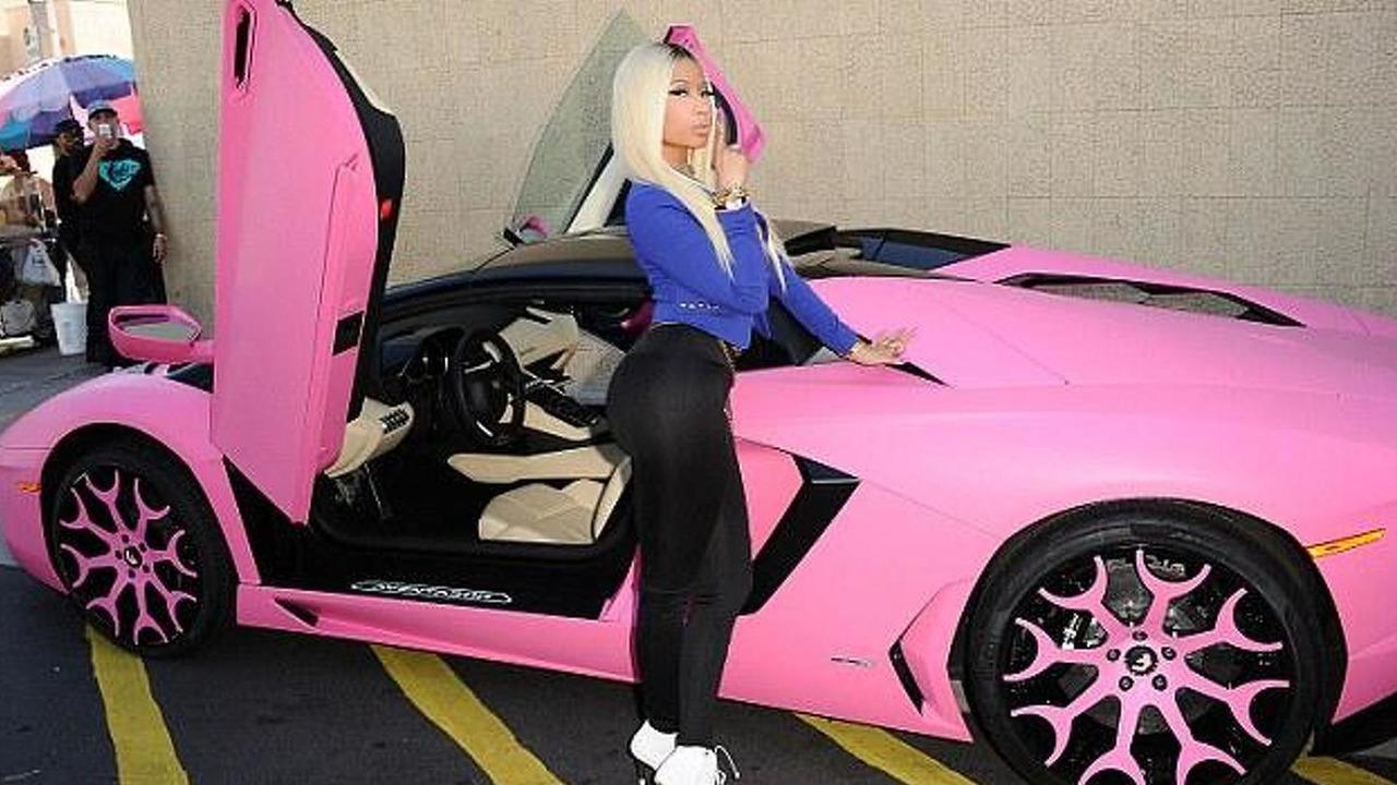 Nicki Minaj's pink Lamborghini Aventador