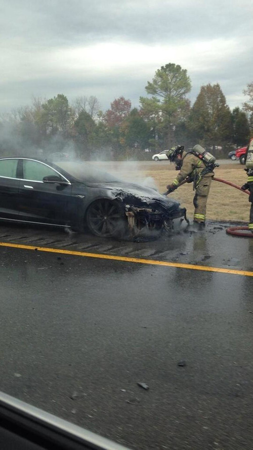 Third Tesla Model S catches on fire
