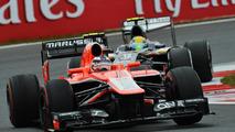 Max Chilton Marussia MR02 leads Esteban Gutierrez Sauber C32 06.10.2013 Korean Grand Prix