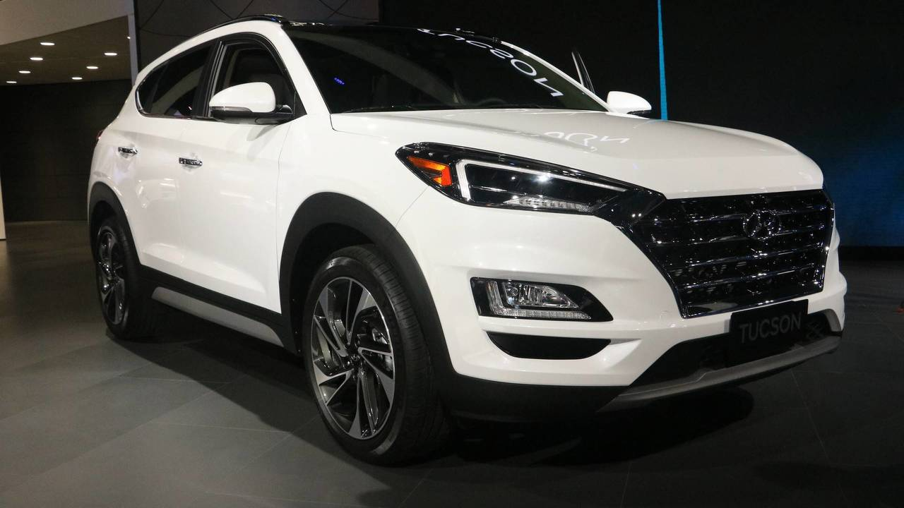 2019 hyundai tucson at the 2018 new york auto show photo. Black Bedroom Furniture Sets. Home Design Ideas