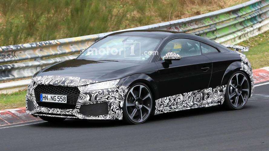 Facelifted Audi TT RS Spied In Action At Nurburgring