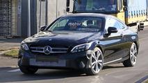 Makyajlı 2018 Mercedes C-Sınıfı Coupe casus fotoğrafları