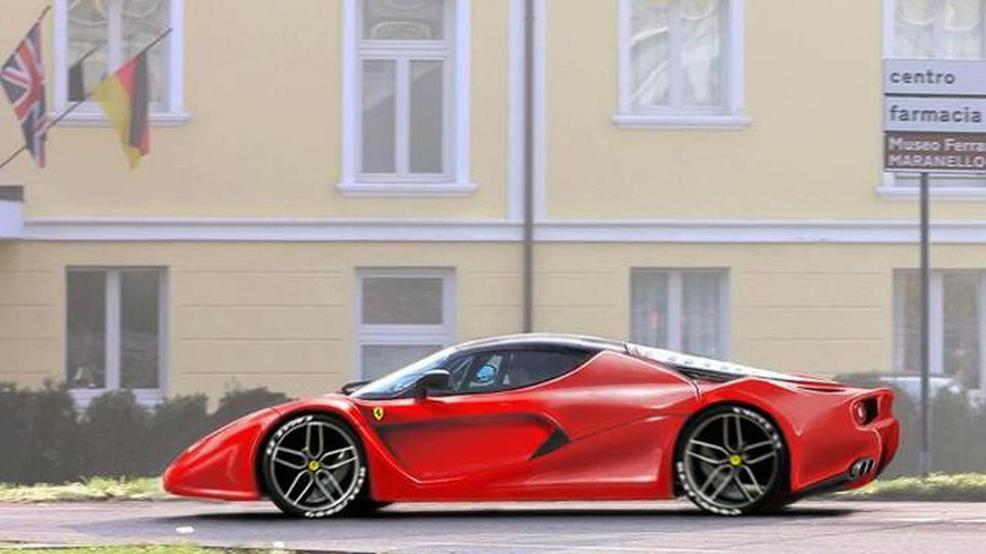 Ferrari F70 render based on sketch photographed at private presentation