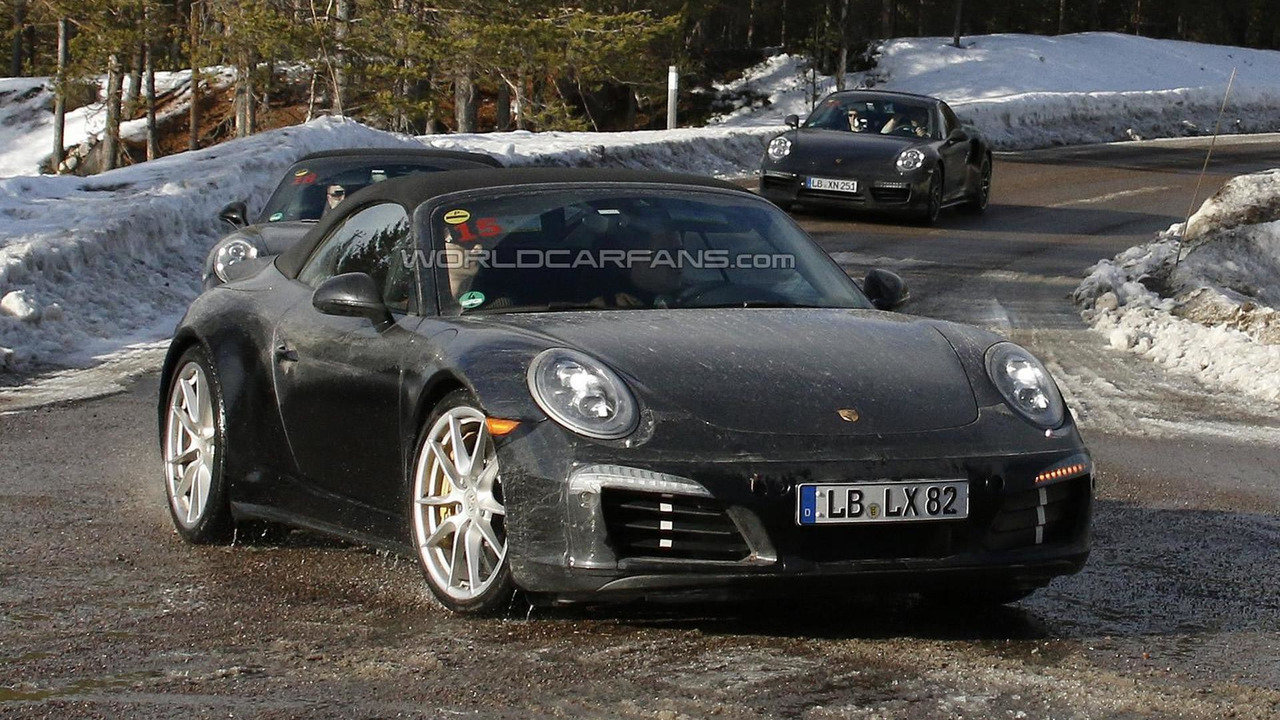 Porsche 911 prototype (possible GTS) spy photo