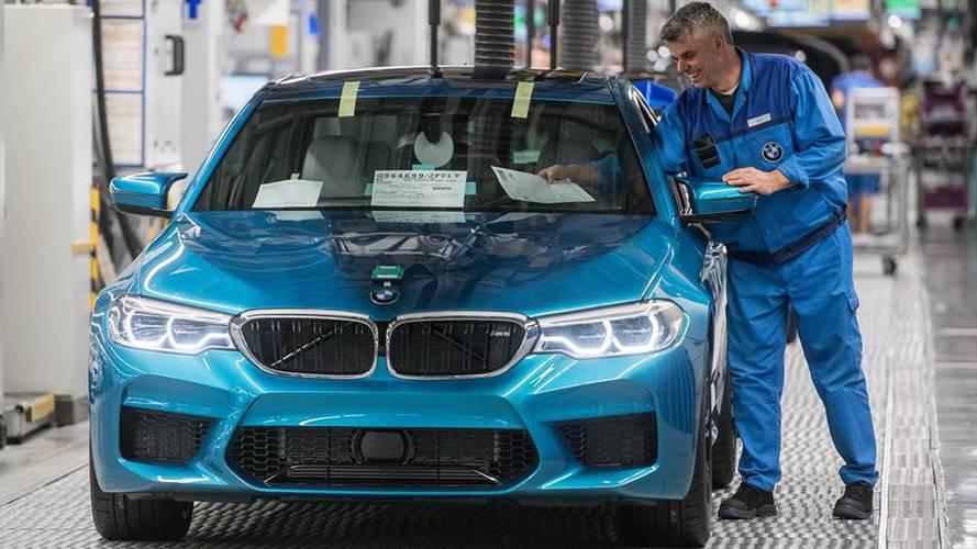 PHOTOS - Début de la production de la BMW M5 F90