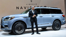 Lincoln President Kumar Galhotra with the 2018 Lincoln Navigator