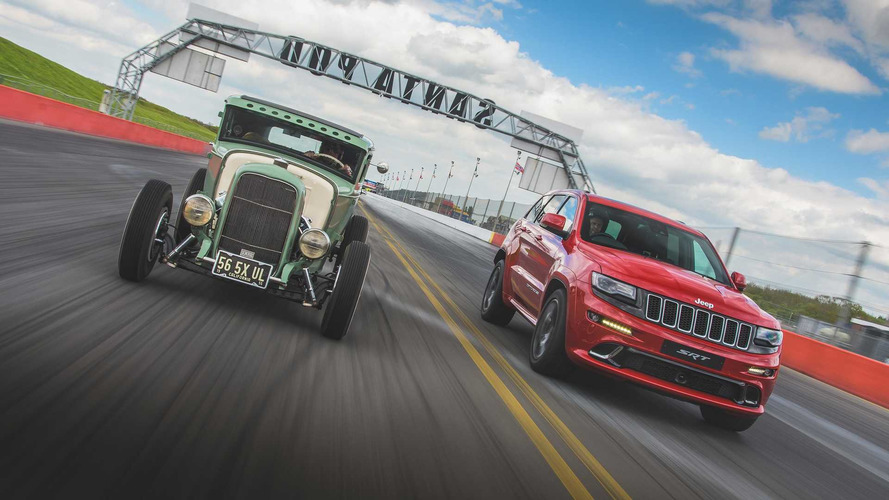 Jeep Grand Cherokee SRT Races DeSoto-Powered Ford Model A