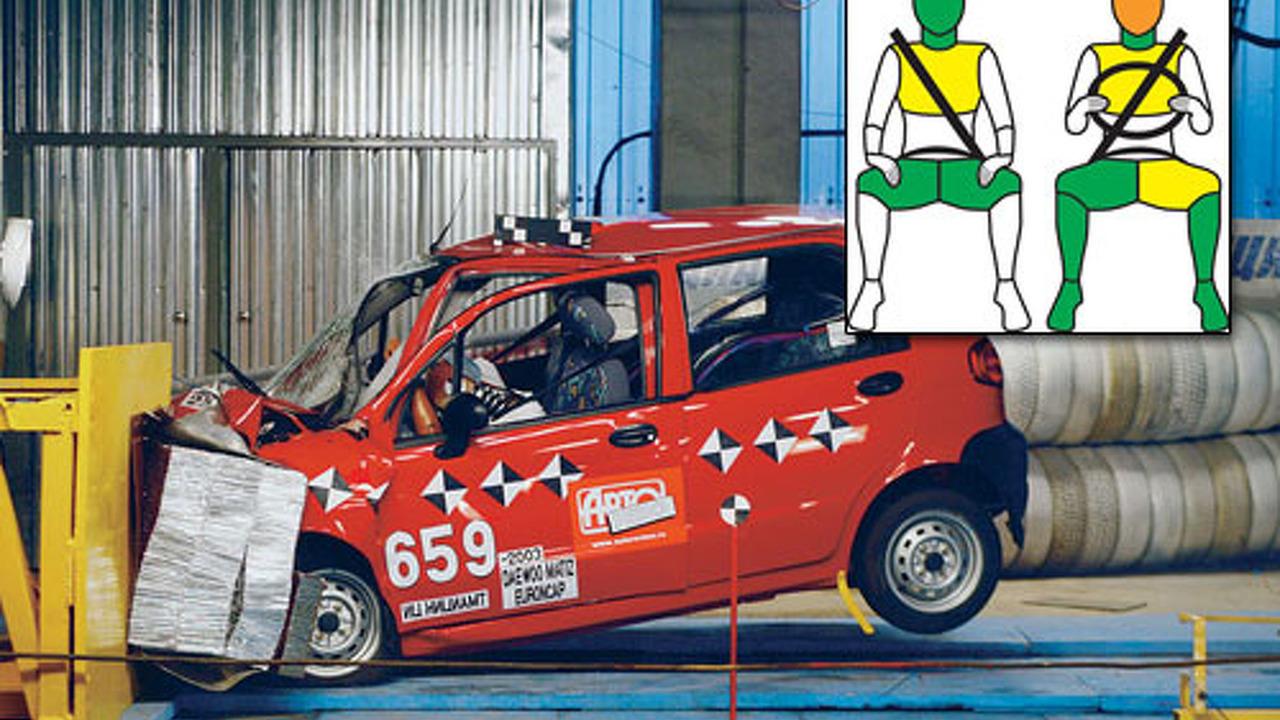Daewoo Matiz Euro NCAP crash test