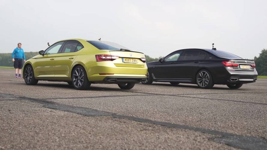 BMW M760i Obliterates Skoda Superb 280 In A Drag Race, Obviously