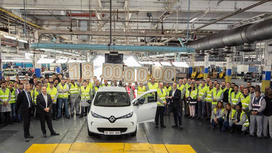 A 18 milliomodik modell is legördült a Renault flinsi gyártósoráról