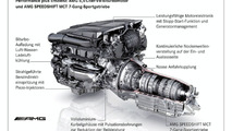 Performance and efficiency: AMG 5.5 litre V8 biturbo engine and AMG SPEEDSHIFT MCT 7-speed sports transmission