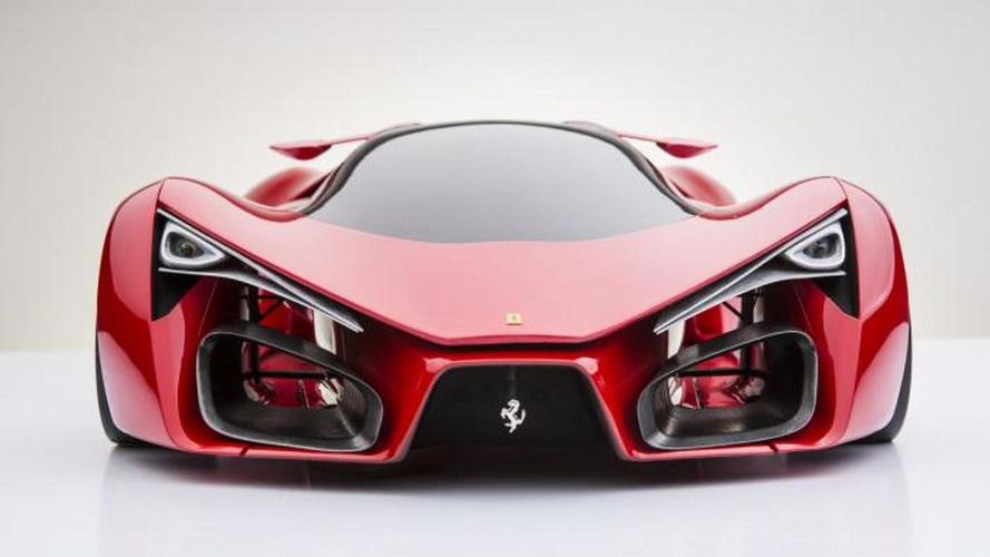 Future Ferrari flagship F80 supercar rendered, comes from outer space