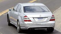 Mercedes S 63 AMG Facelift Spy Photos in US Desert