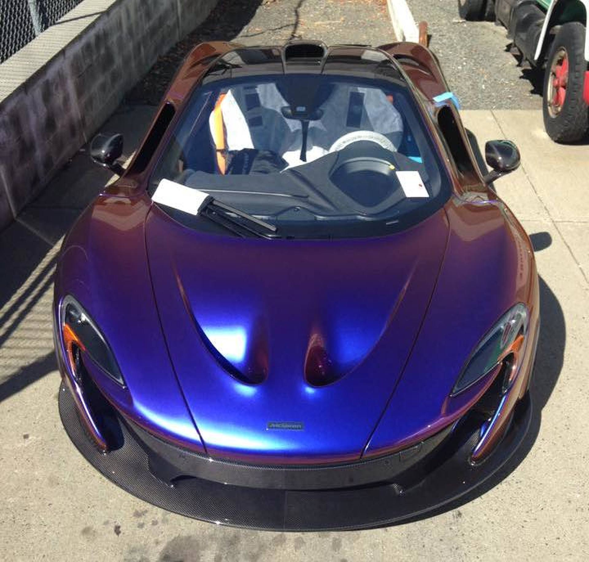 "MLB Pitcher CJ Wilson's McLaren P1 is ""Blurple"" and Beautiful"