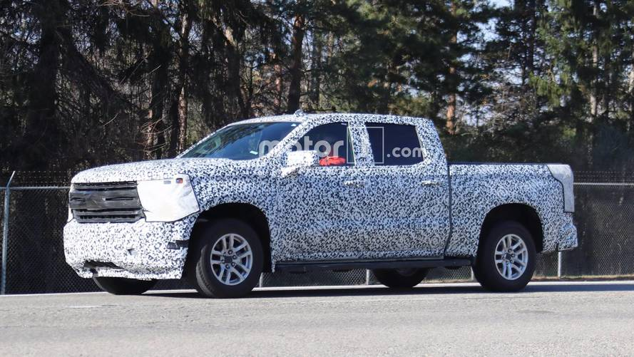 2019 Chevrolet Silverado Pickup Spied Showing Some Curves