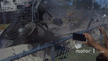 Crash of Dario Franchitti at Houston