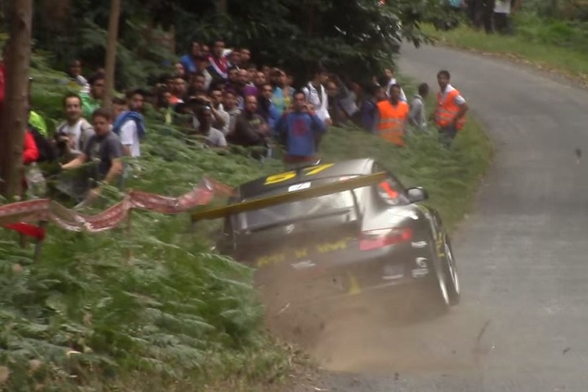 Watch This Porsche Rally Car Almost Careen Into Spectators