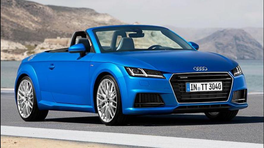 Nuova Audi TTS Coupé e TT Roadster, tutti i prezzi