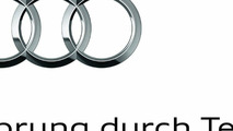 New Audi logo: The brand trademark, the four rings, has now been combined with the brand claim