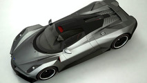Student design 3D rendered Russian supercar
