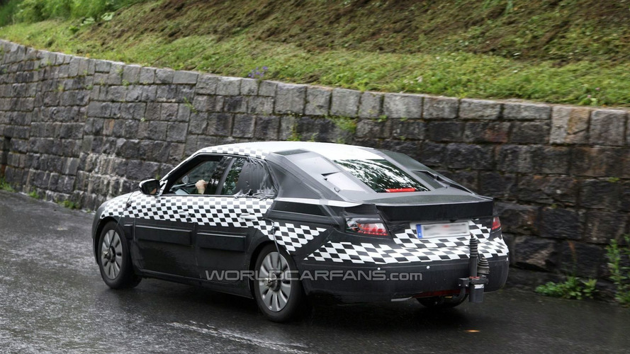 2010 Saab 9-5 sedan latest spy photos in the Alps