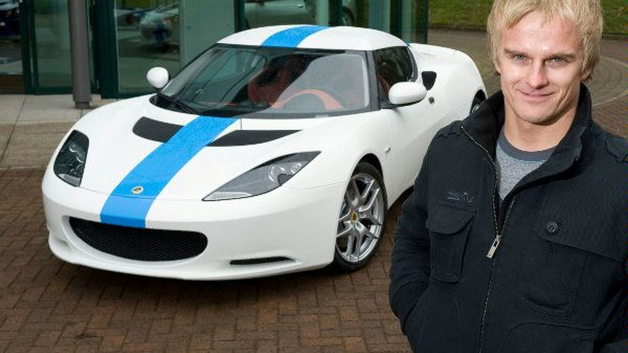 Heikki Kovalainen with Lotus Evora