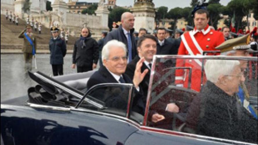 Mattarella taglia le auto blu del Quirinale