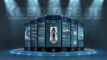 Koenigsegg aplicación móvil
