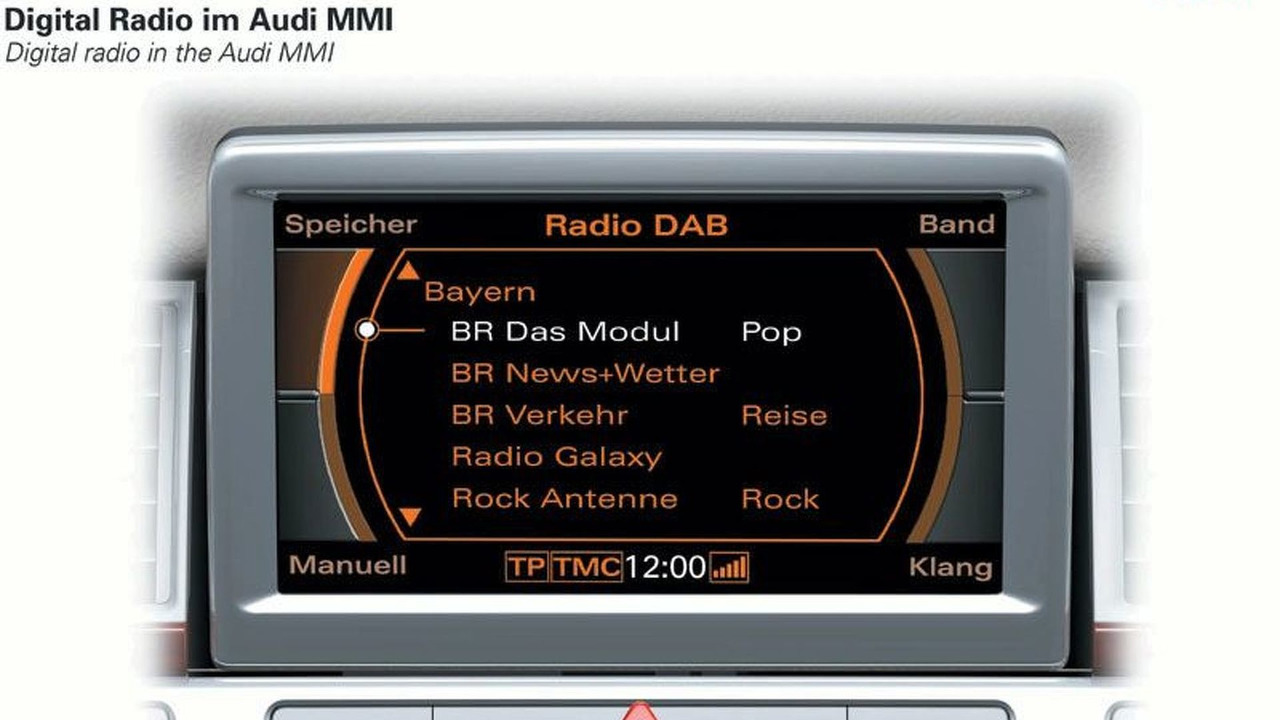 Digital radio DAB - Digital Radio in the Audi MMI