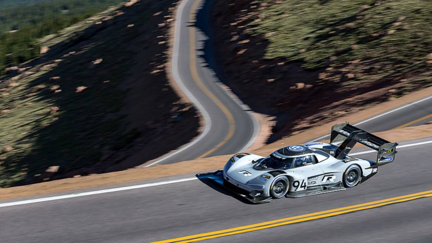 Watch VW's record-setting Pikes Peak run from a birds-eye view