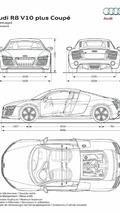 2013 Audi R8 V10 Plus dimensions