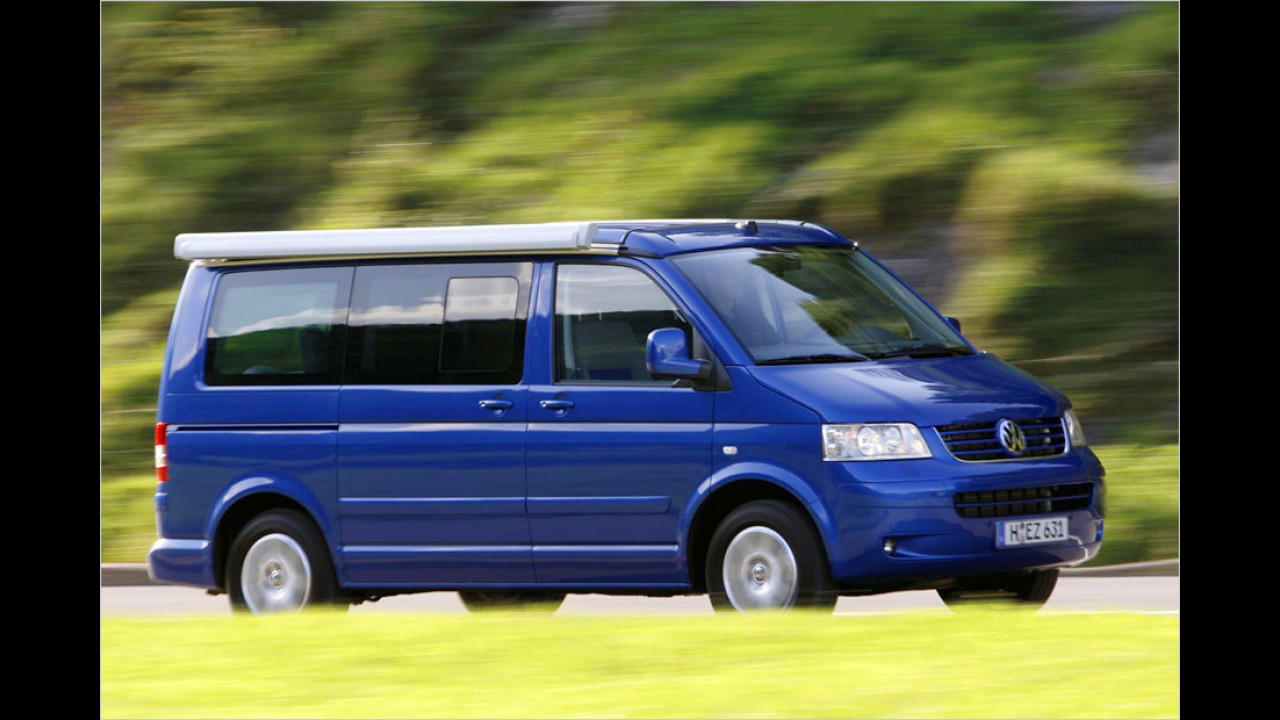 Platz 10: VW T5 Multivan California 1.9 TDI