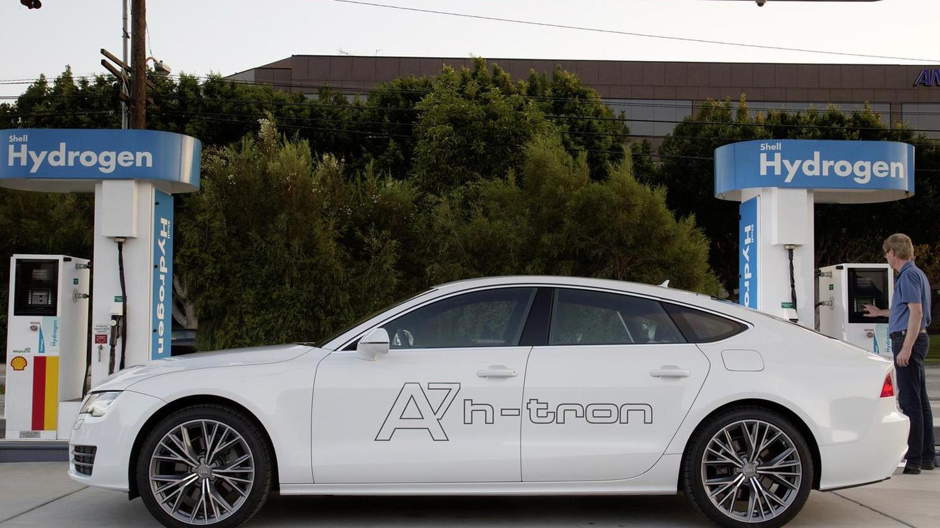 Заправка водородом Audi A7 Sportback h-tron quattro