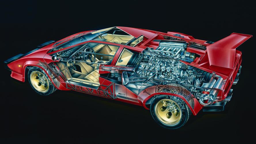 Lamborghini Countach Cutaway by: David Kimble