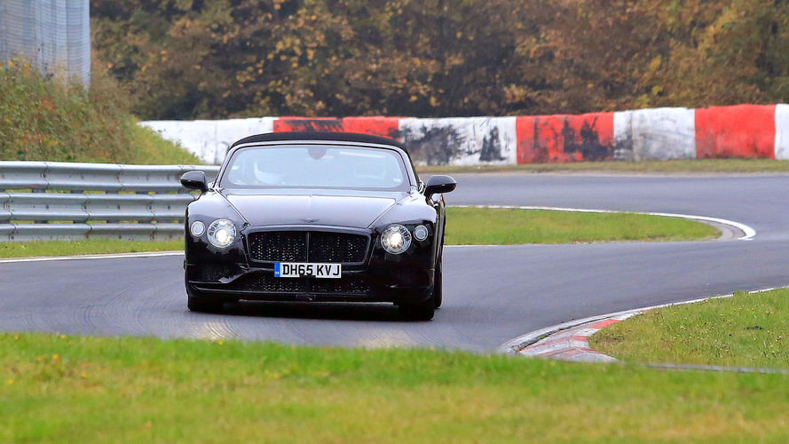 Bentley Continental GT, GTC spied on video at Nurburgring